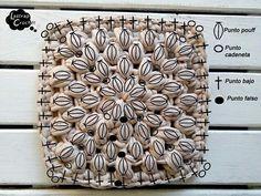 Crochet Art, Crochet Motif, Crochet Patterns, Crochet Squares, Crochet Granny, Cotton Cord, Wedding Quotes, T Shirt Yarn, Doilies