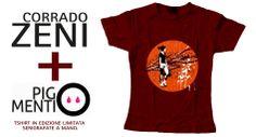 Tshirt in edizione limitata e serigrafate a mano realizzate per la mostra Atlas.  http://pigmenti.eu/product/atlas-di-corrado-zeni/