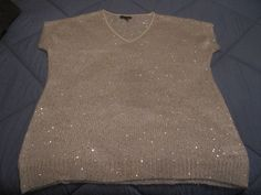 Jeans by Buffalo cap sleeve large holiday sparkle sweater ivory NWOT #Buffalo #Sweater #any