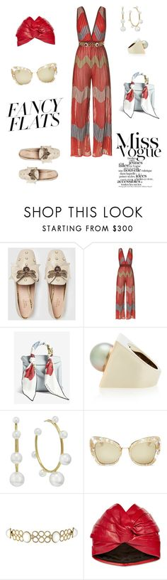 """""""Miss Vogue"""" by andreeark ❤ liked on Polyvore featuring Gucci, M Missoni, Alexander McQueen, Alina Abegg, Irene Neuwirth, Dolce&Gabbana, Kenneth Jay Lane and chicflats"""