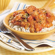 chicken and sausage etouffee recipe 1 tablespoon olive oil $ 1 onion, chopped 1 green pepper, chopped 1 pound boneless, skinless chicken breasts, cubed $ 1 pound smoked sausage...