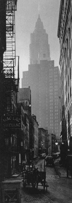 Berenice Abbott - Cliff and Ferry Street, Manhattan, 1935. ~Amazing.