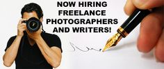 Photographers and Writers Wanted!