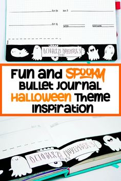 Want to create beautiful bullet journal spreads for Halloween? This bullet journal Halloween theme post will provide lots of fun inspiration and ideas! Bullet Journal Student, Bullet Journal Font, Journal Fonts, Bullet Journal Printables, Bullet Journal Junkies, My Journal, Journal Pages, Journal Ideas, Journaling