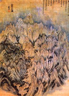 Jeong Seon, General View of Mt. Geumgangsan (1676 - 1734)  on ArtStack #jeong-seon #art