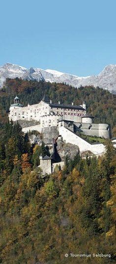 Castle Hohenwerfen Salzburg province - Austria -- Tourismus Salzburg