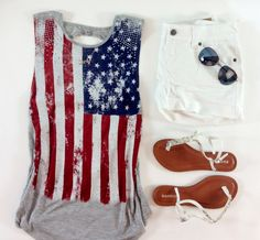Deb Shops - What to wear   4th of July #american #flag #americana