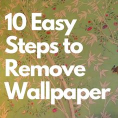 Removing old wallpaper can be a tricky task. This guide will help you learn how to take that wallpaper off without ruining your drywall. It will also show you how to repair any damage your drywall may have sustained. Easy To Remove Wallpaper, Remove Wallpaper Borders, Removing Old Wallpaper, Bathroom Cleaning Hacks, Cleaning Tips, Cleaning Supplies, How Do You Remove, Wall Borders, Cleaning Painted Walls