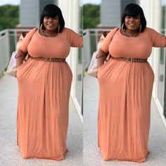 Look Plus Size, Plus Size Girls, Plus Size Women, Plus Size Maxi Dresses, Modest Dresses, Plus Size Outfits, Big Girl Fashion, Funky Fashion, Apple Body Shape Outfits
