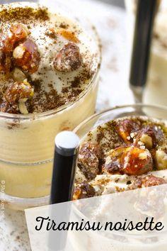 La recette du tiramisu noisette #cuisineactuelle #tiramisu #noisette Deep Dish, Gourmet Desserts, Good Ideas