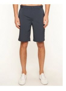 The Greg Norman 5 Pocket Tech Shorts have belt loops on the waistband with interior silicone tape, a button and zip-up fly front, twin side pockets, accompanied by a coin pocket and dual welt #pockets on the back.
