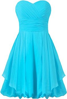 ANTS Womens Short Bridesmaid Dresses Wedding Party Dress Size 14 US Sky Blue * Check this awesome product by going to the link at the image.
