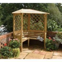 Buy Balmoral Corner Arbour from our Arches, Arbours & Pergolas range - Tesco.com