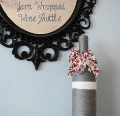 DIY Yarn Crafts : DIY Crafts: DIY Yarn Wrapped Wine Bottle Vase
