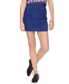Royal Blue Suede Skirt