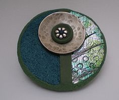 Polymer clay pendant by Helen Hughes