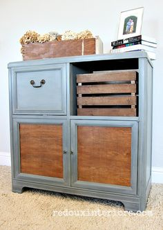 How to makeover an old Stereo Cabinet and have it actually play your vinyl records!  Complete easy to follow details. REDOUXINTERIORS.COM FACEBOOK: REDOUX INSTAGRAM: @REDOUXINTERIORS
