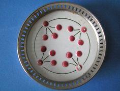 Untersetzer Jugendstil Keramik mit Metallmontierung Riemerschmid ? Mod. R13 in Antiquitäten & Kunst, Silber, Silberauflage / Versilbertes | eBay!
