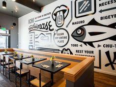 Ichi Sushi + Ni Bar, A Brilliant Bernal Expansion - Eater Inside - Eater SF Restaurant Interior Design, Cafe Interior, Cafe Design, Store Design, Red Design, Graphic Design, Bar Deco, Espace Design, Sushi Restaurants