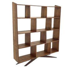 Modern Handcrafted Walnut Bookshelf on Chairish.com