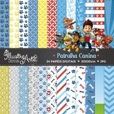 Items similar to Paw Patrol Goodie Bag Cup 4 Goodie Cups on Etsy Paw Patrol Masks, Paw Patrol Party, Paw Patrol Birthday, Scrapbook Background, Theme Background, Digital Paper Free, Digital Scrapbook Paper, Diy And Crafts, Paper Crafts