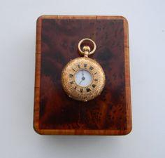 Vintage 18K gold ladies pocket watch dated 1896 by FeliceSereno, $1900.00