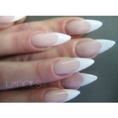 I know French tip is so old news but I really love it on the stiletto shape