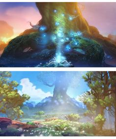 Artes do Game Ori and the Blind Forest, do Moon Studios   THECAB - The Concept Art Blog