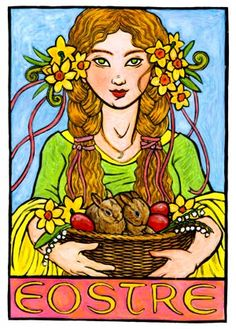 Article: Eostre - Teutonic Goddess or NeoPagan Fancy? (Image by Thalia Took)
