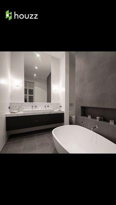 Bathroom, Modern, grey tiles,