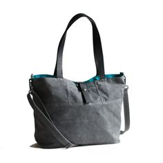 The Carrier in Gray Waxed Canvas