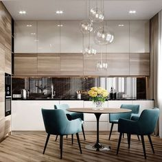 38 Elegant and Luxurious Kitchen Design Ideas - Top Five Suggestions for Designing a Luxury Kitchen Kitchen Room Design, Kitchen Cabinet Design, Modern Kitchen Design, Dining Room Design, Living Room Kitchen, Home Decor Kitchen, Interior Design Kitchen, Diy Kitchen, Kitchen Ideas