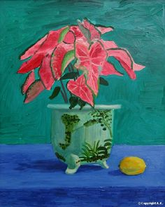 'Pink Caladium', 1996 - David Hockney