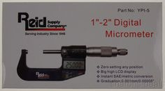 "Reid Digital Micrometer 1-2"" 25-50mm YPI-5 Graduation 0.0001mm/0.00005"" Case NEW"