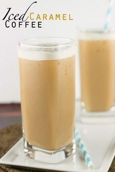 Iced Caramel Coffee via sweetasacookie.com