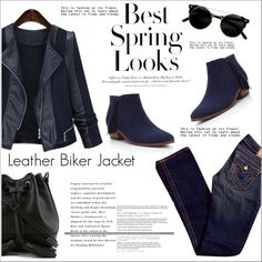 How To Wear Leather Biker Jacket - MaxFancy Outfit Idea 2017 - Fashion Trends Ready To Wear For Plus Size, Curvy Women Over 20, 30, 40, 50