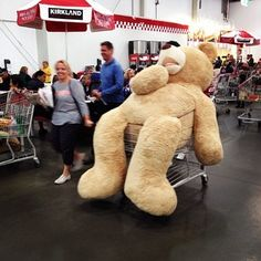 The most enormous teddy bear to ever roam the planet.   27 Things You'll Only See At Costco