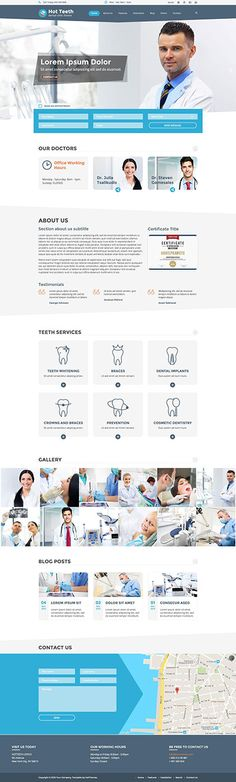 Hot Teeth is a #responsive #Joomla template dedicated to #dentists and all…