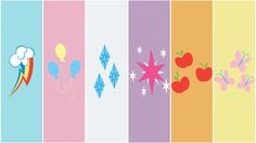 Mane 6 Cutie Marks Wallpaper by uruoki.deviantart.com on @deviantART- for icing colors and cutie marks