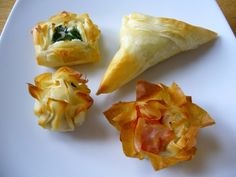 Kids won't eat fish? Wrap it in Phyllo. Husband/Wife/Partner just invited the boss over for dinner and you've only got leftovers in the fridge? Wrap it in Phyllo. Need appetizers for a huge dinner party that you can make the day before and refrigerate and bake right before serving? Wrap it in Phyllo. It's easy, versatile, and makes everything look and taste better.