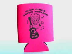 Cheap Bachelorette Koozies - Personal koozies for wedding drink are a greate wedding favor idea.