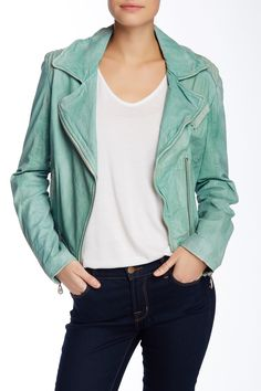 Doma - Belted Leather Moto Jacket at Nordstrom Rack. Free Shipping on orders over $100.