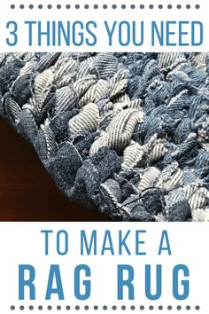 Beautiful handmade rag rugs add charm and creativity to home decor! You can make your own with just 3 items!