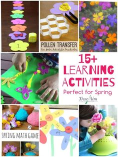 Spring is the perfect time to bring fun back into your learning! With all these ideas shared today, you have no excuse! Here are spring learning activities! Preschool Learning Activities, Preschool At Home, Spring Activities, Hands On Activities, Activities For Kids, Alphabet Activities, Toddler Learning, Classroom Activities, Preschool Ideas