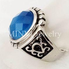 Pengiriman hanya geometris baru perhiasan cincin batu akik biru, Kawin, Ukuran 6 9 di Cincin dari Perhiasan AliExpress.com | Alibaba Group