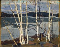 Tom Thomson - Spring in Algonquin Park - Canada, Canadian Oil Painting - Group of Seven Art Print by ArtExpression - X-Small Canadian Painters, Canadian Artists, Landscape Art, Landscape Paintings, Oil Paintings, Group Of Seven Art, Framed Art Prints, Fine Art Prints, Tom Thomson Paintings