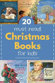 """There are so many wonderful Christmas books available for children. I recently searched """"Christmas books for children"""" on Amazon and found over 40,000 books! With so many books available, it's hard to know where to start! To help you narrow down the choices available, I've put together this list of 20 Christmas books for kids. I've mostly chosen books that focus on Christ and the true meaning of Christmas or teach a valuable lesson. #homeschool #Christmas #books Christmas Books For Kids, Christmas Prayer, A Christmas Story, Christmas Ideas, Preschool Christmas Activities, Book Activities, Reading Resources, Classic Christmas Carols, True Meaning Of Christmas"""