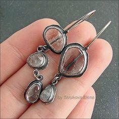 Strukova Elena - авторские украшения - Серьги с аквамаринами  #JewelryStyle