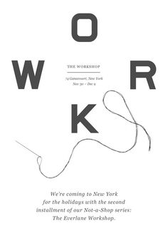 Our Workshop opens this week at 74 Gansevoort in New York. Try on clothes, order gifts,create custom products withonsite artisans.  RSVP and more info here.