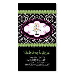 Sweet treats and damask bakery business card bakery business cards sweet treats and damask bakery business card bakery business cards bakery business and business cards reheart Choice Image